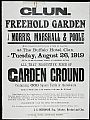 Auction poster - Freehold garden clun